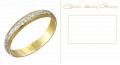 Aliança de compromisso em ouro 18k com detalhes em ouro branco.