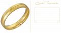 Aliança de compromisso em ouro 18k.