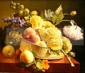 Antoine Berjon - Cesta com Flores e Frutas