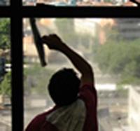 Encomenda Limpeza profissional de vidros