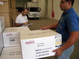 Encomenda Recebimento de cargas nos portos e terminais