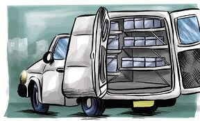 Encomenda Transporte produtos de alimentacao