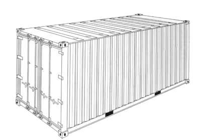 Encomenda Transporte de carga em contêineres padrão