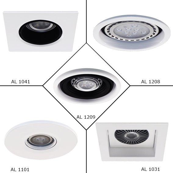 Encomenda Embutidos para lâmpadas convencionais e LEDS.