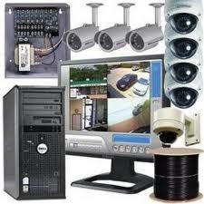 Encomenda A instalação elétrica de vigilância e alarme de vídeo