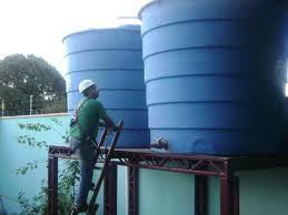 Encomenda Limpeza de reservatórios de água.
