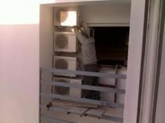 Instalação de condicionadores de ar