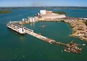 Obras portuárias.