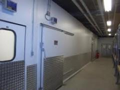 Montagem das câmaras de refrigeração