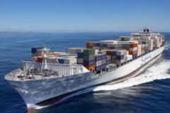 Serviços das agências de transporte e expedição para transporte marítimo