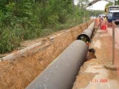 Construcao de redes de distribucao de gas