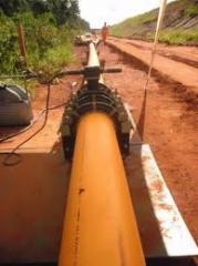 Construção de redes de gás e agua