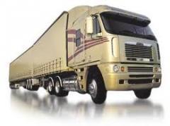 Transporte de carga rodoviária.