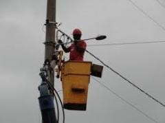 Instalação de iluminação pública