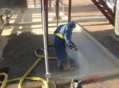 Execução de trabalhos de isolamento hidráulico