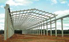 Montagem de Estruturas pré moldadas de concreto e Metálicas