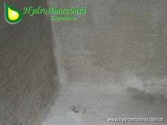 Impermeabilização do tanque de cimento