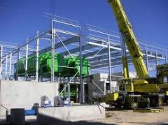 Instalação e tubagens de equipamentos industriais