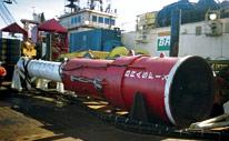 Plataforma de exploração de gás natural.