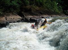 Rafting nas montanhas
