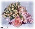 Cesta com rosas e boneca dama (Entrega)